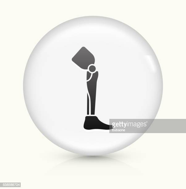 Leg Transplant icon on white round vector button