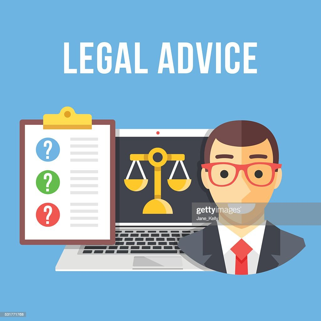 Legal advice. Creative flat design vector illustration