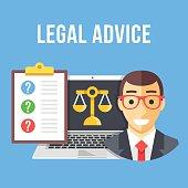 Legal advice. Creative flat design vector illustration
