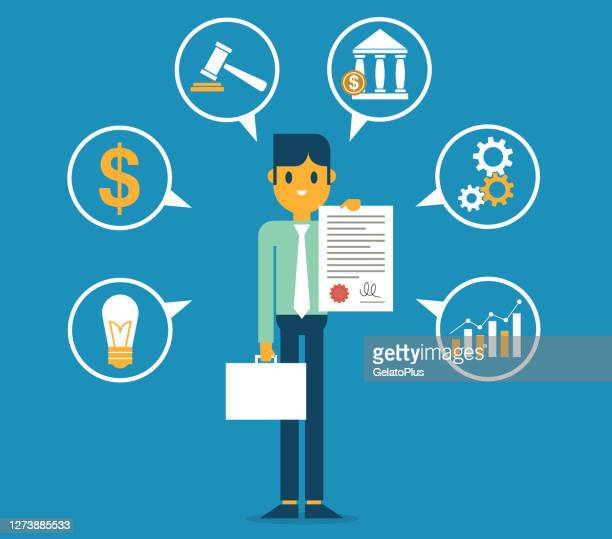 illustrazioni stock, clip art, cartoni animati e icone di tendenza di consulente legale - uomo d'affari - contabilità