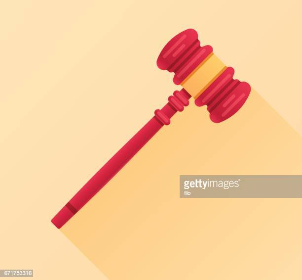 legal gavel law firm - mallet hand tool stock illustrations