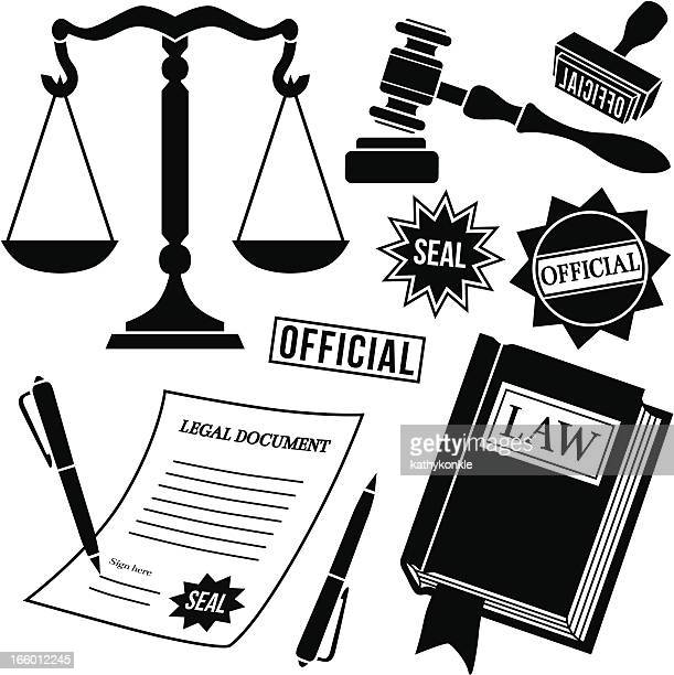 legal icons - legal document stock illustrations, clip art, cartoons, & icons