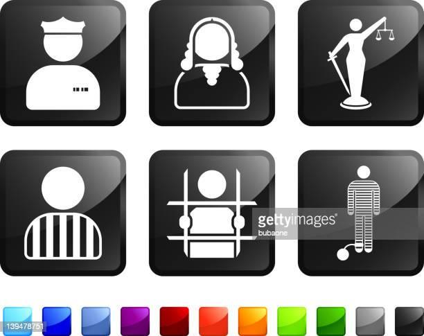 legal system am Arbeitsplatz lizenzfreie vektor icon set Aufkleber