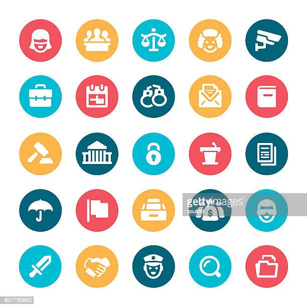 Legal System Icons