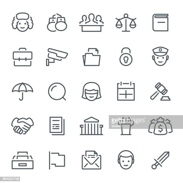 legal system icons - juror law stock illustrations