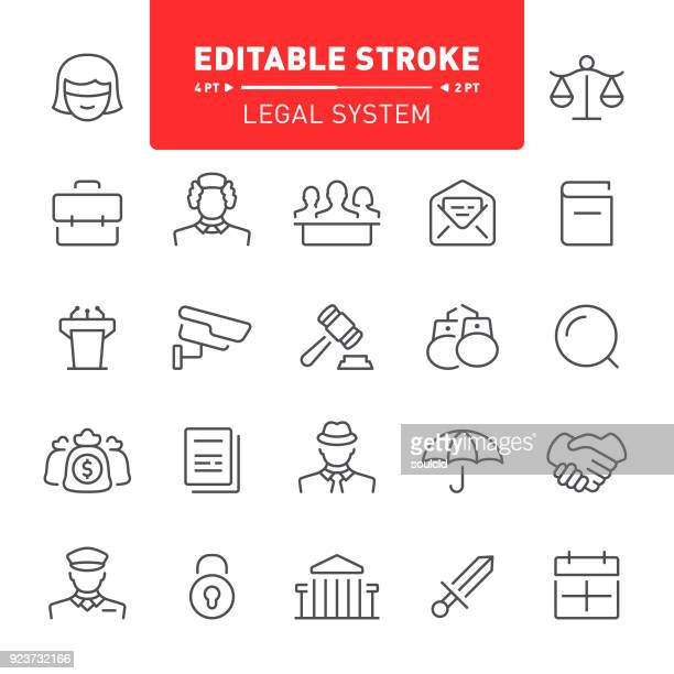 ilustraciones, imágenes clip art, dibujos animados e iconos de stock de sistema jurídico iconos - balanzas de la justicia