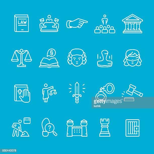 Justizsystem Kontur symbole