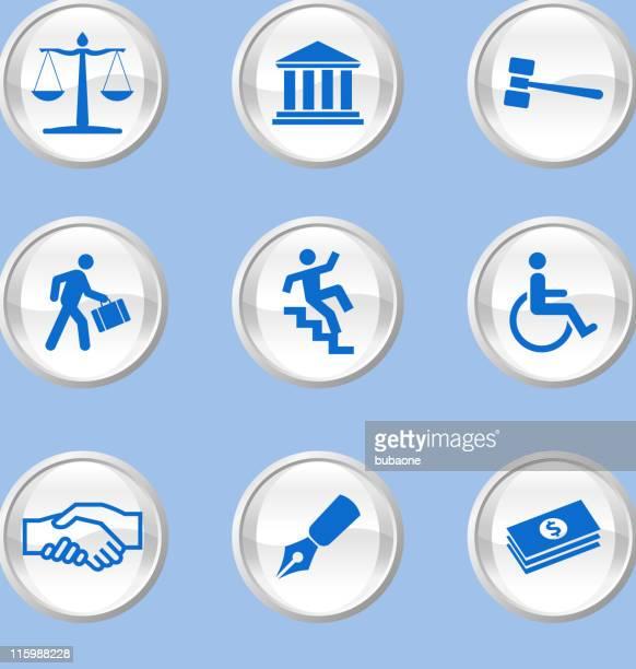 legal system royalty free vector icon set - criação digital stock illustrations