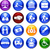 legal system sixteen royalty free vector icon set