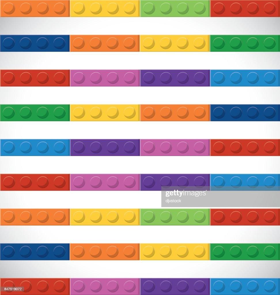 Lego icon. Sriped figure. Vector graphic