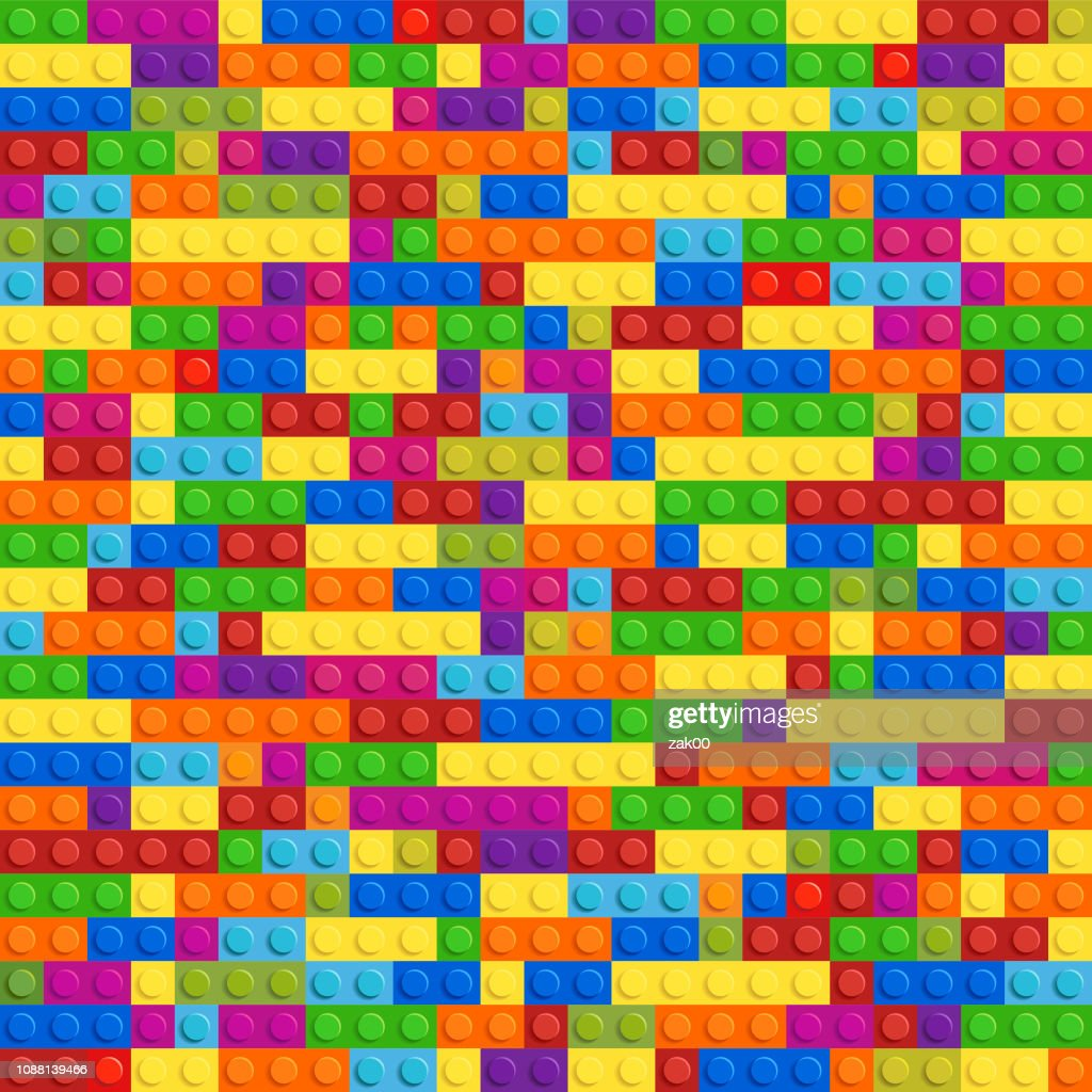 Lego Plastic Toy Vector Seamless High-Res Vector Graphic ...
