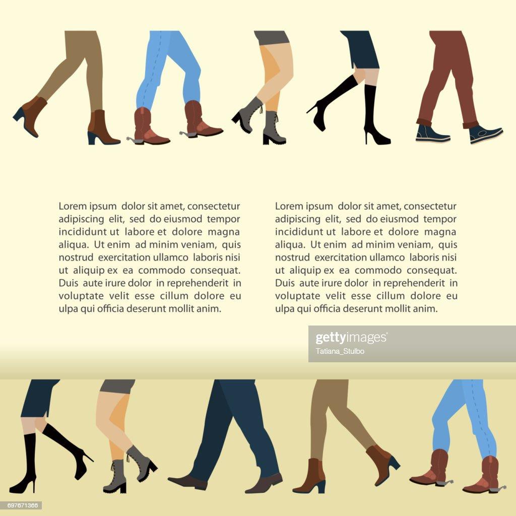 Legs of people