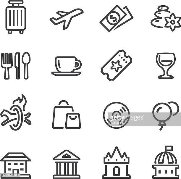 Les loisirs et les voyages des icônes-Série ligne
