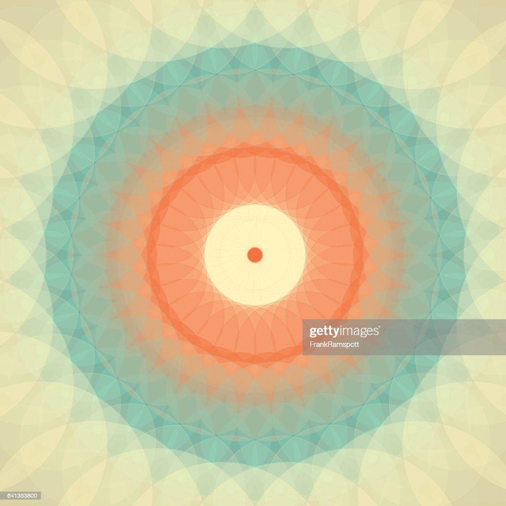 LeMans konzentrischen Kreis Mandala : Stock-Illustration