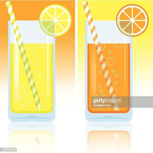 Lemon and orange juice
