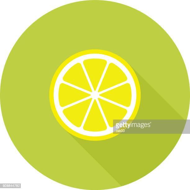 lemon flat design icon - acid stock illustrations