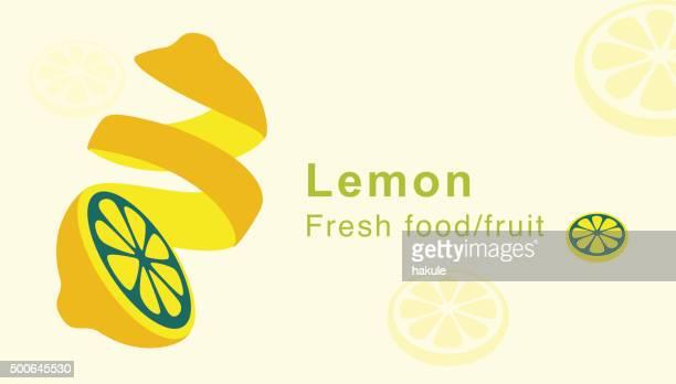 lemon fruit, peels skin, vector