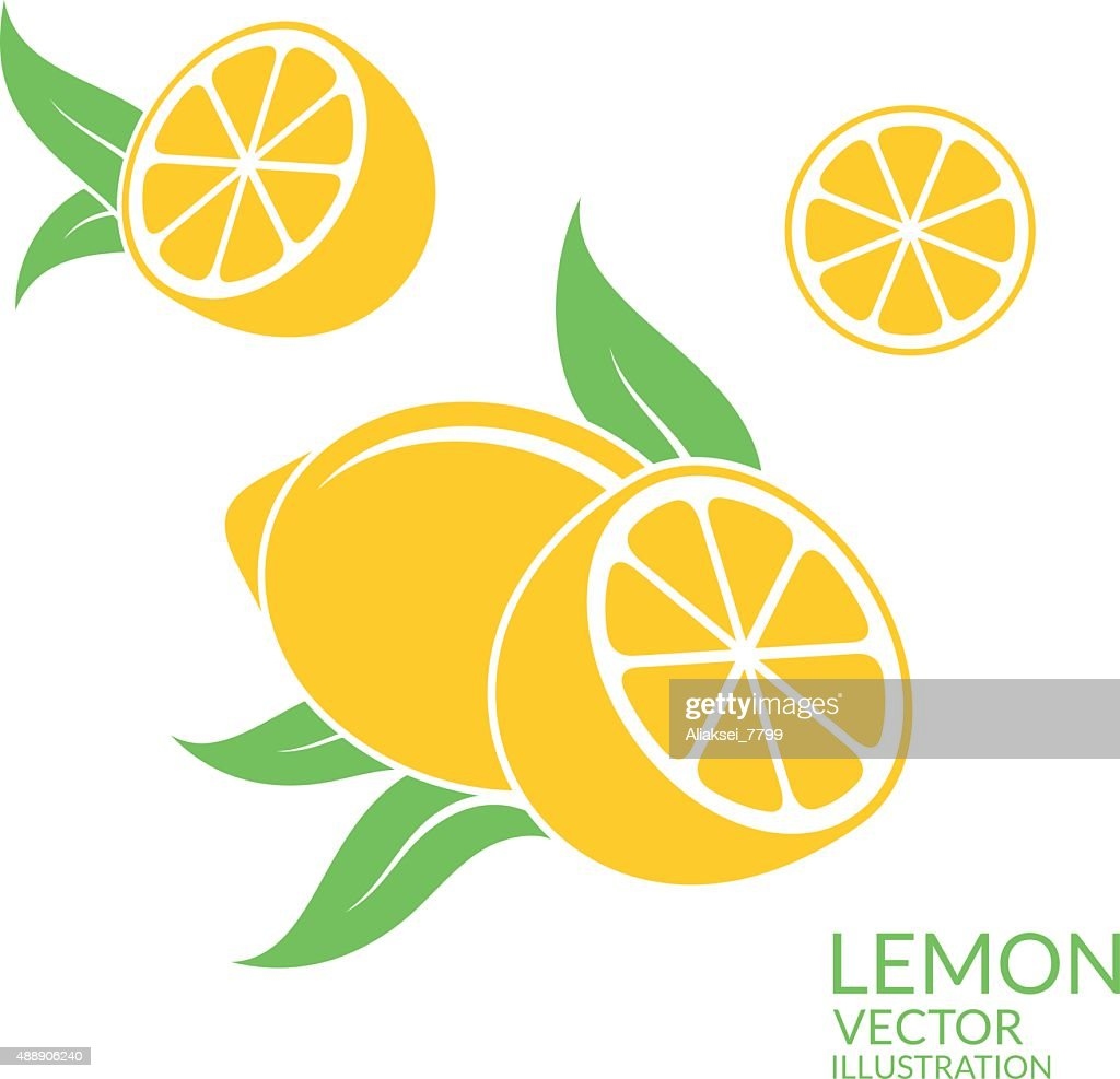 Lemon. Isolated fruit on white background