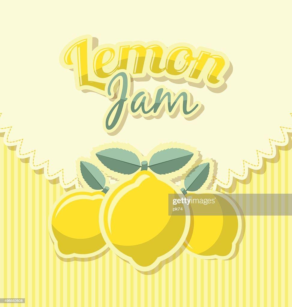 Lemon jam label