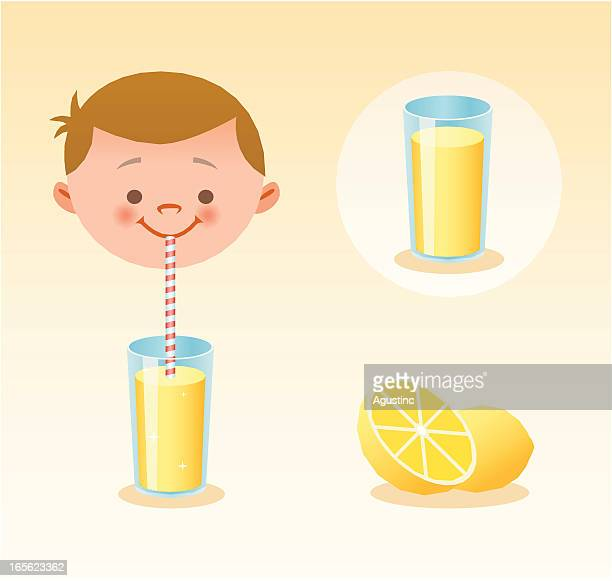lemon juice - juice drink stock illustrations, clip art, cartoons, & icons