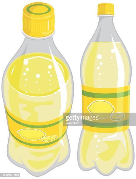 lemonade bottle - lemon soda stock illustrations