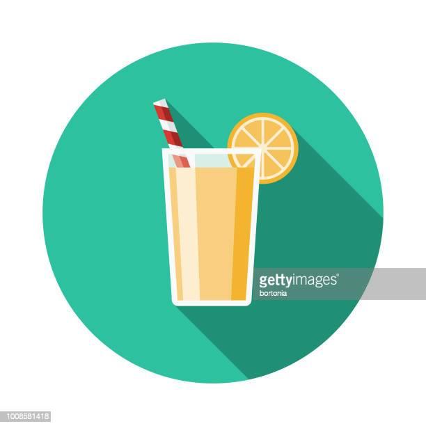 lemonade flat design travel & vacation icon - lemon soda stock illustrations