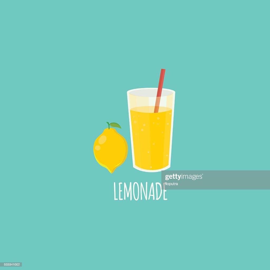 Lemonade Flat Vector. Isolated Vector. Illustration. Icon