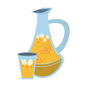 Lemonade jar and cup