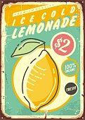Lemonade promotional retro poster design