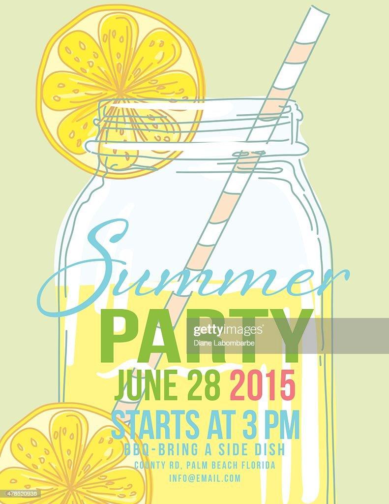 Lemonade summer beach party invitation template vector art getty lemonade summer beach party invitation template vector art stopboris Image collections