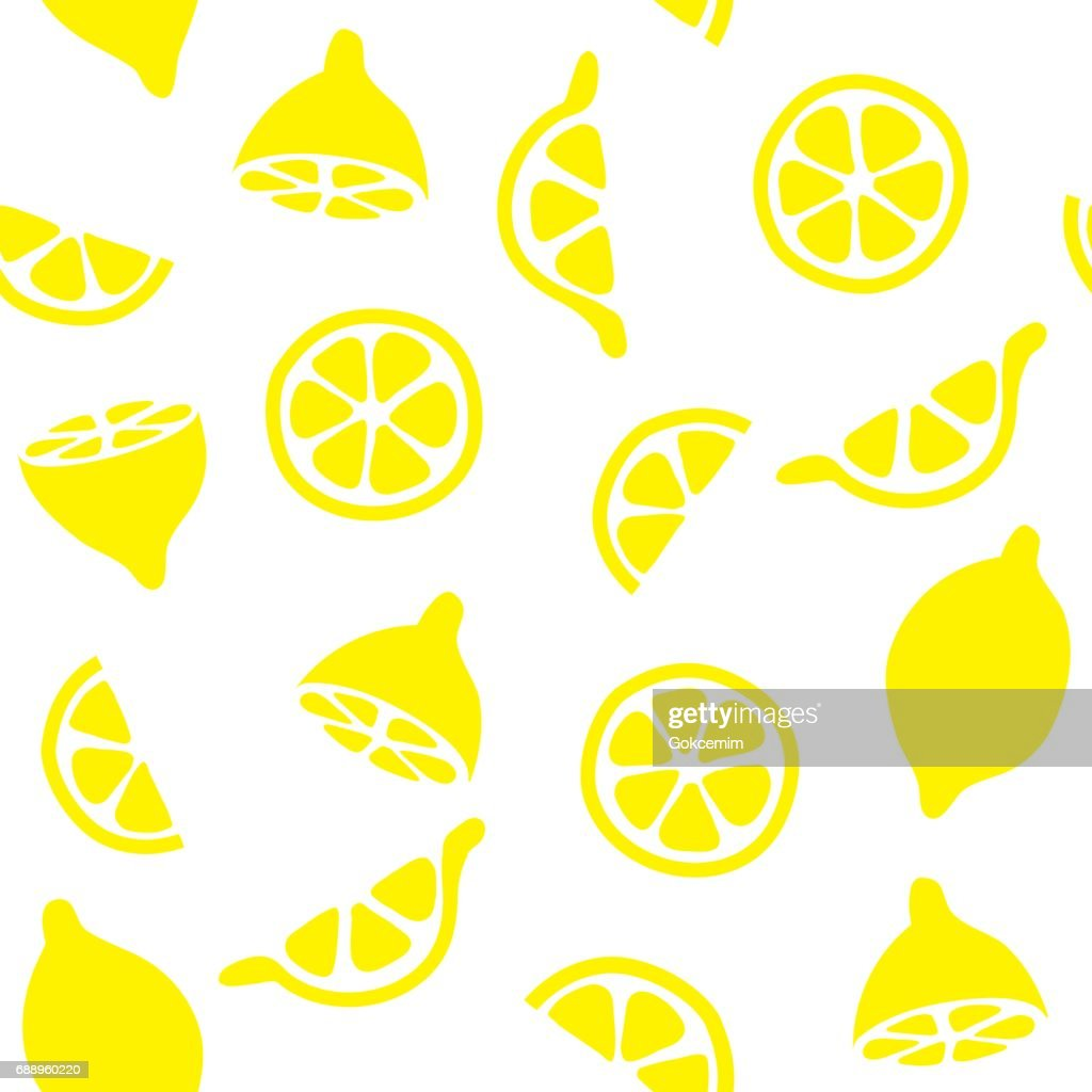 Lemons Seamless Pattern Background