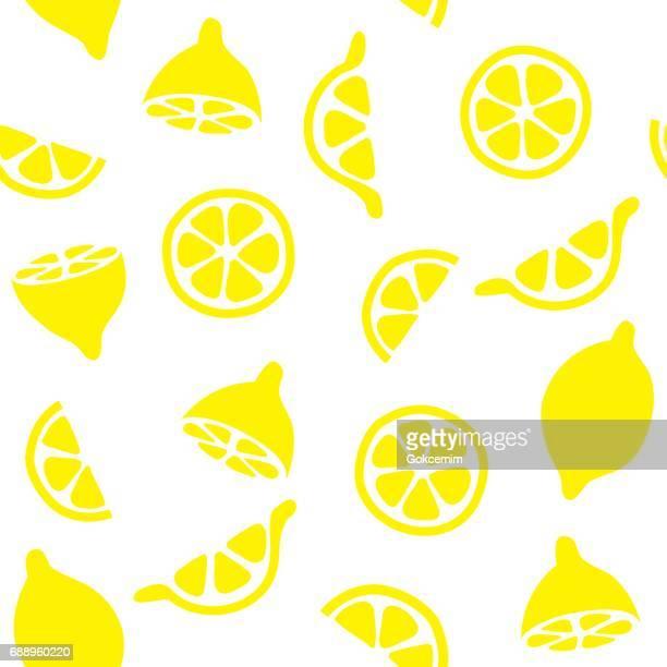Lemons Seamless Pattern Background