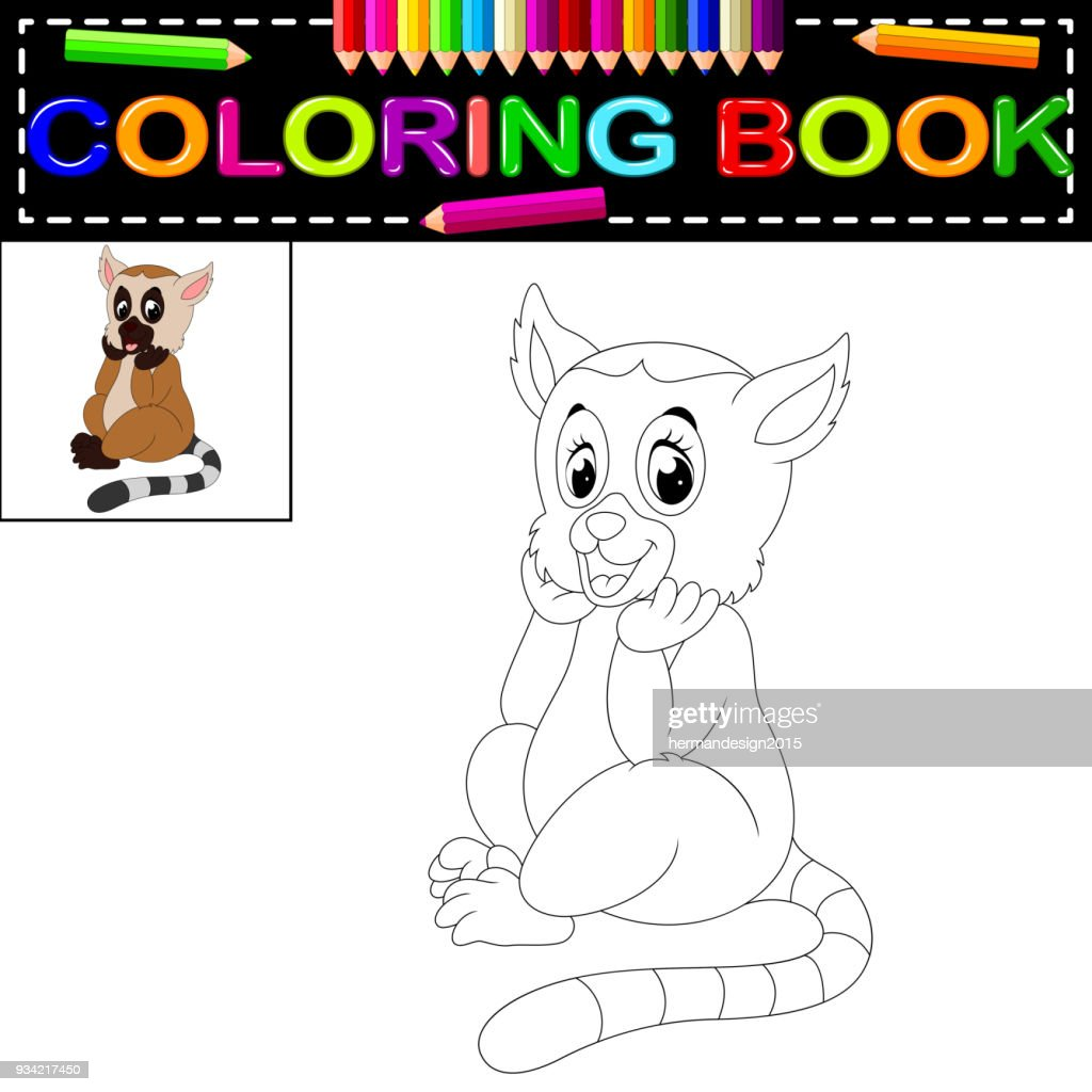 lemur coloring book