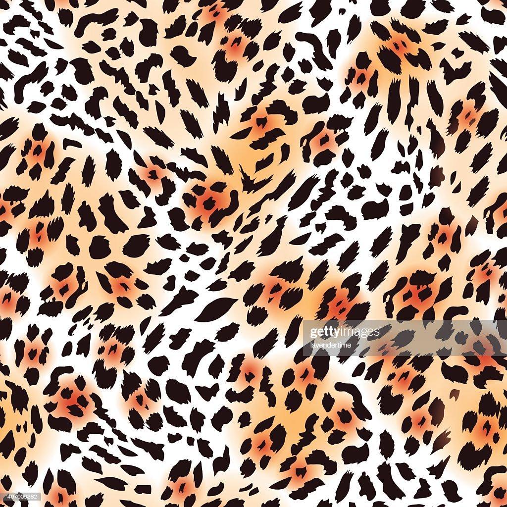 Leopard fur seamless vector print