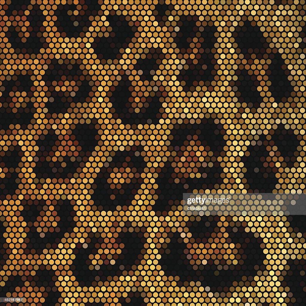 Leopard mosaic vector background