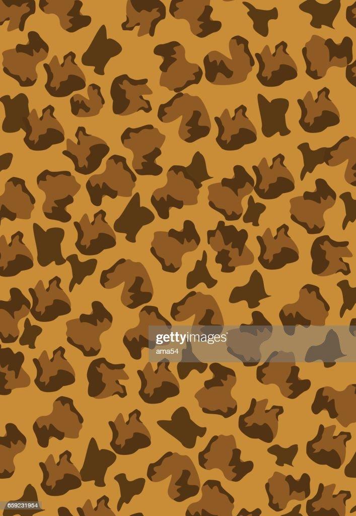 leopard pattern brown vector background editable ilustration