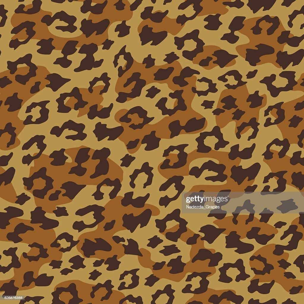 Leopard seamless background. Vector illustration.