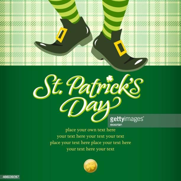 leprechaun invitation - st. patrick's day stock illustrations, clip art, cartoons, & icons