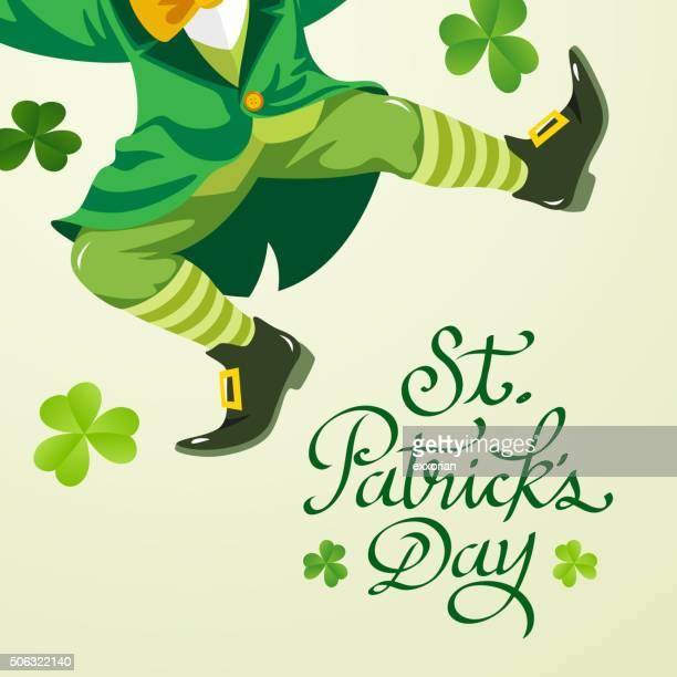 leprechaun party invitation - st. patrick's day stock illustrations, clip art, cartoons, & icons