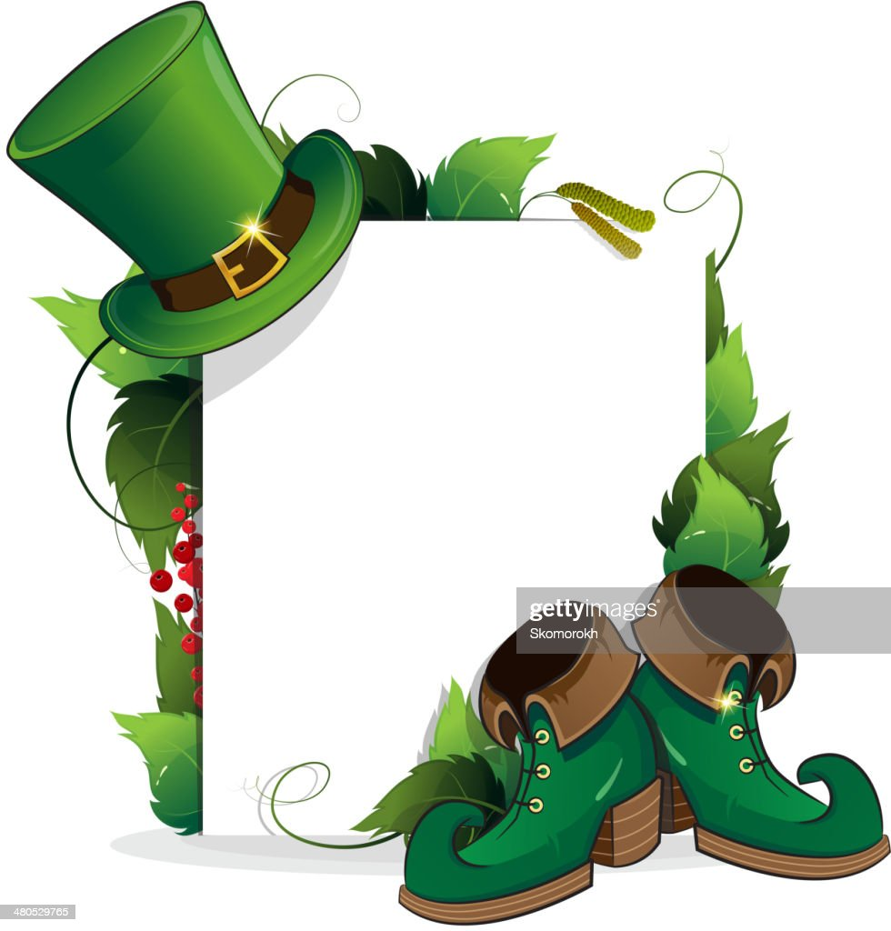 Leprechaun shoe and  hat : Vector Art