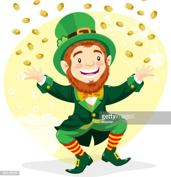 Leprechaun with Gold Coins