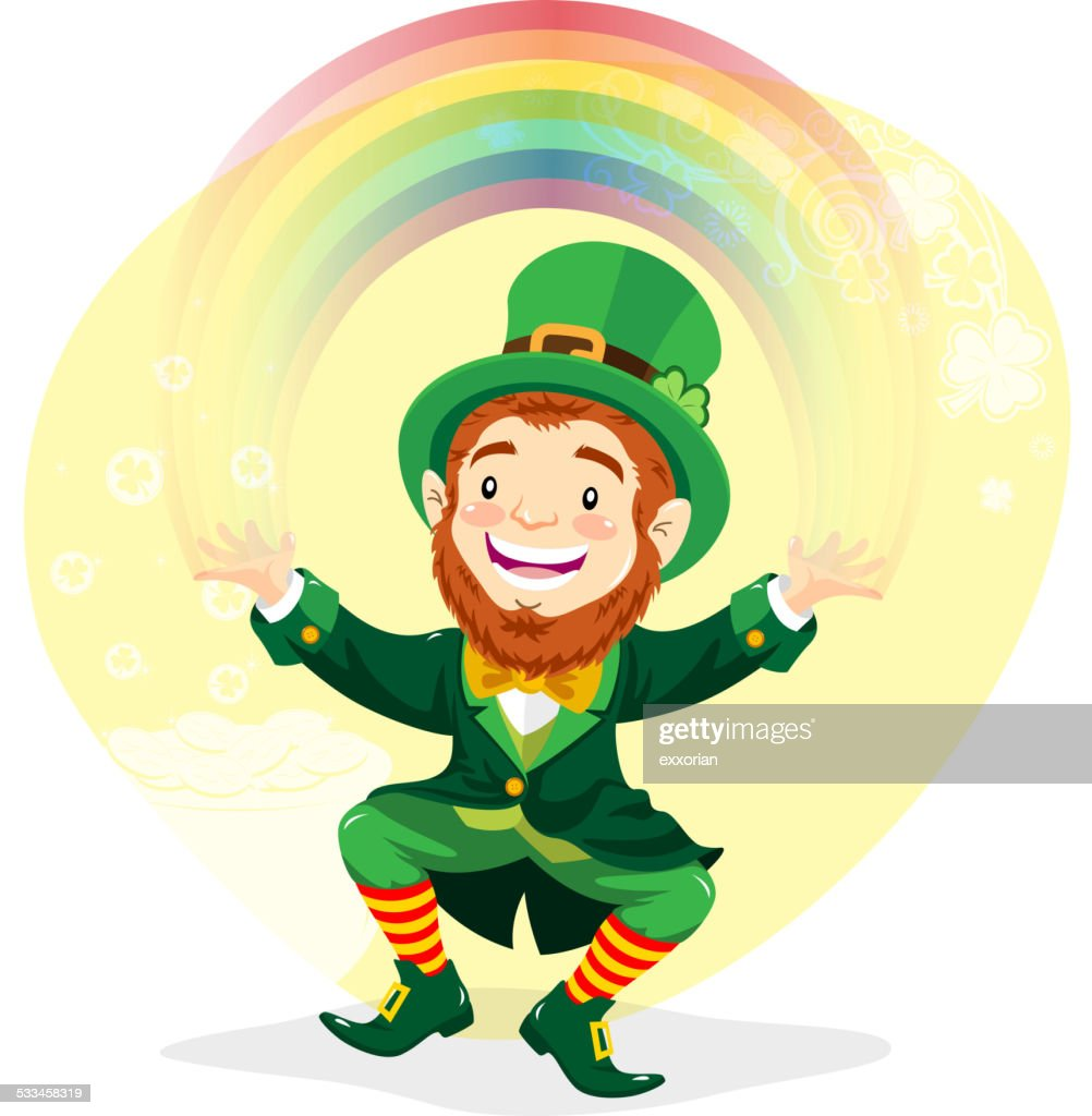 Leprechaun with Rainbow