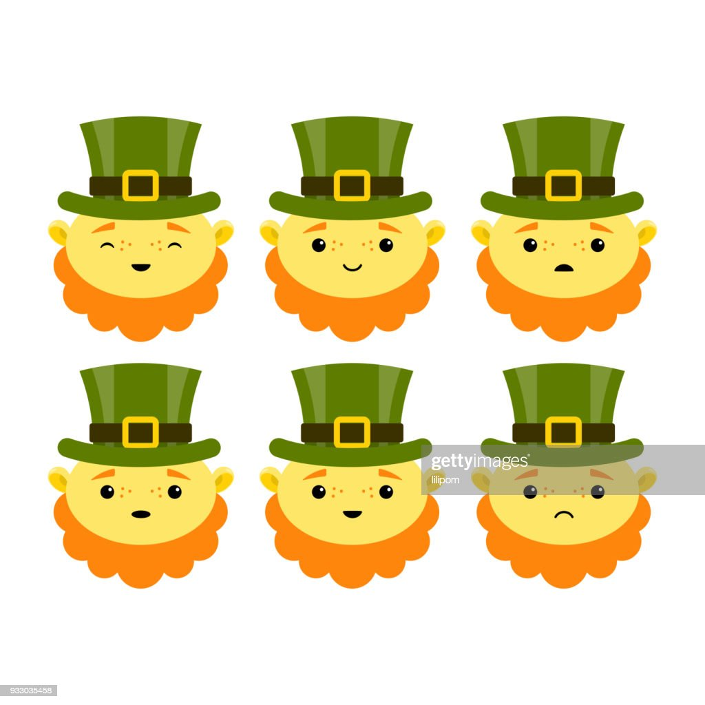Leprechauns. Characters for St. Patricks day. Vector