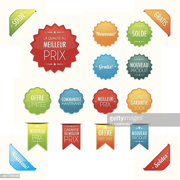 Les boutons de promotion en français