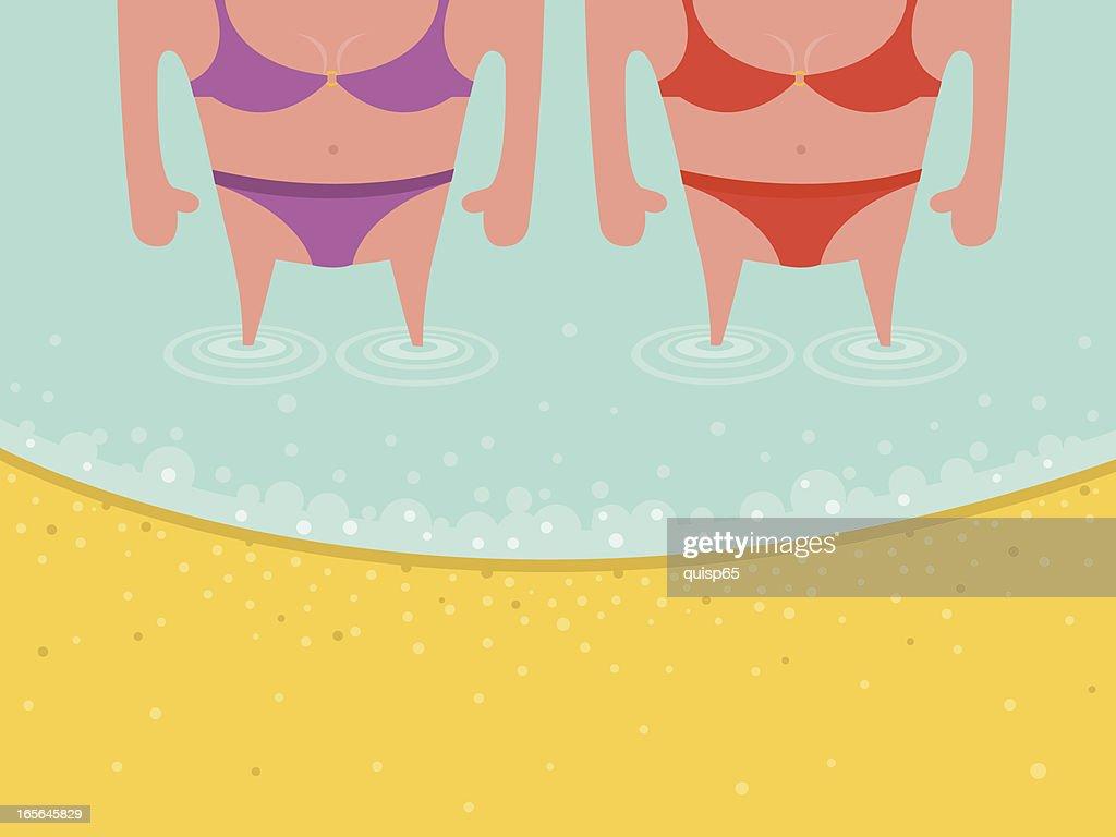 Lesbian Couple at the Beach