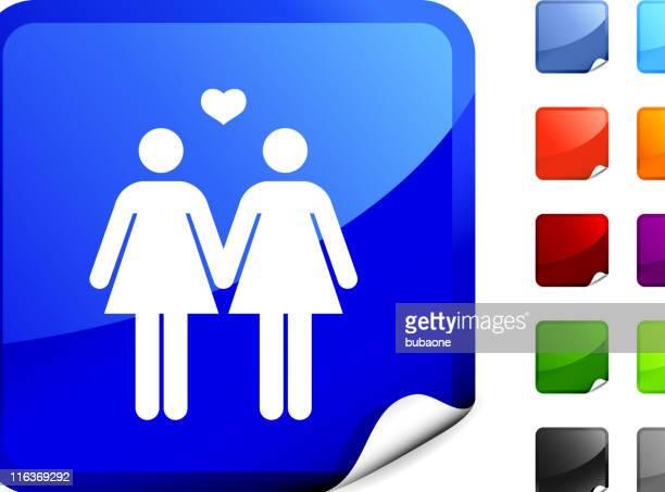 lesbian couple internet royalty free vector art