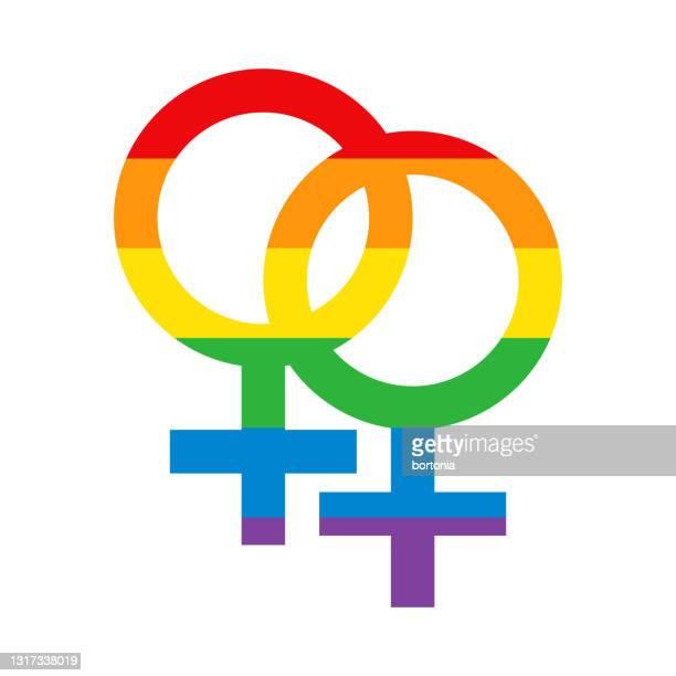 レズビアンプライドアイコン - 結婚の平等点のイラスト素材/クリップアート素材/マンガ素材/アイコン素材