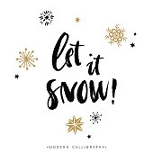 Let it snow! Christmas calligraphy.