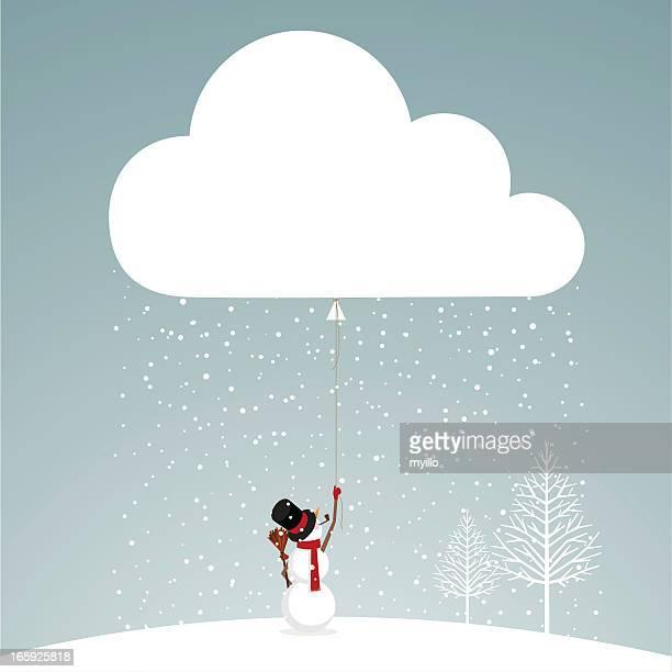 let it snow snowman - snowman stock illustrations