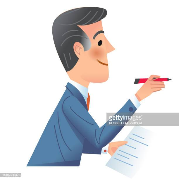 let me make a note of that - legal document stock illustrations, clip art, cartoons, & icons